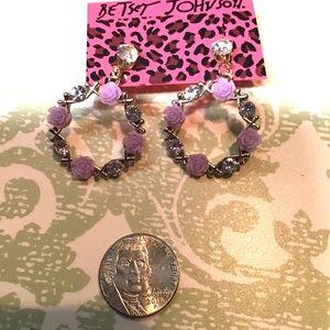 "1.5"" Lavender Wreath Earrings"